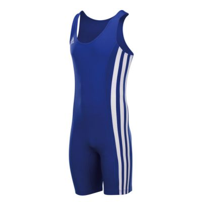 adidas Clubline Blue Weightlifting Suit - Front