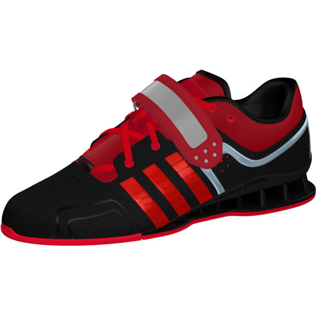 Black AdiPower Weightlifting Shoes side