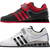 adidas adipower weightlifting shoes black and White