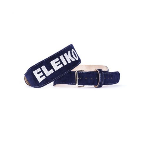 Eleiko Weightlifting Belt Blue Suede
