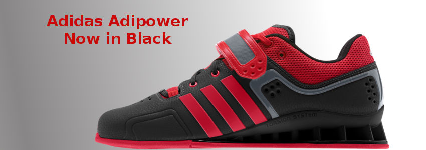 Black Adipower Weightlifting Shoes