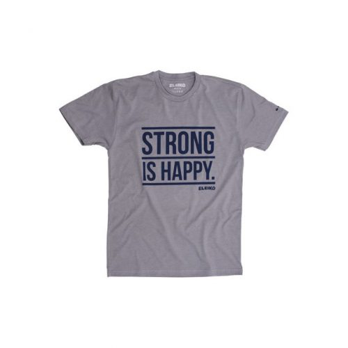 Eleiko Men's T-Shirt - Grey - Strong Is Happy
