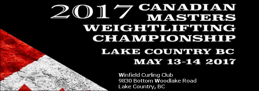 2017 canadian masters weightlifting