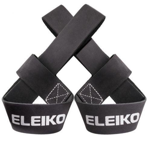 Eleiko 3000610-990 Pulling Straps - Leather - Jet Black