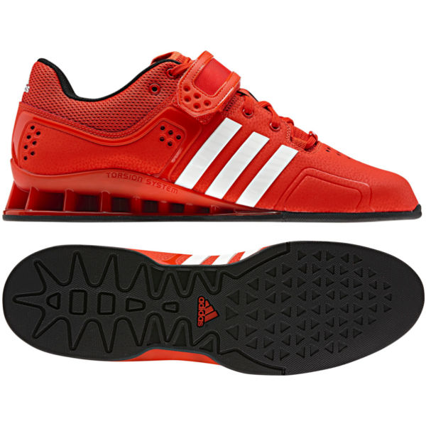 6e6c413373976b adidas Adipower Weightlifting Shoes in Red   White