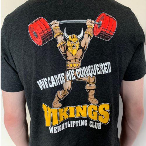 Viking Weightlifting Equipment short black back