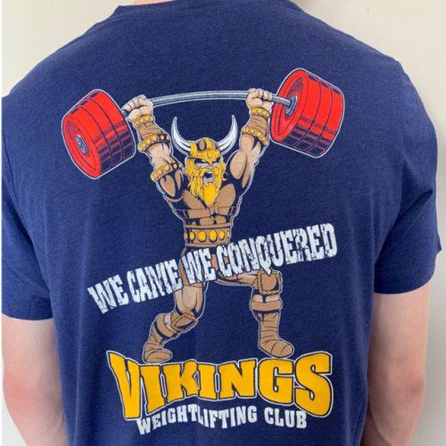 Viking Weightlifting Club Navy Blue Back