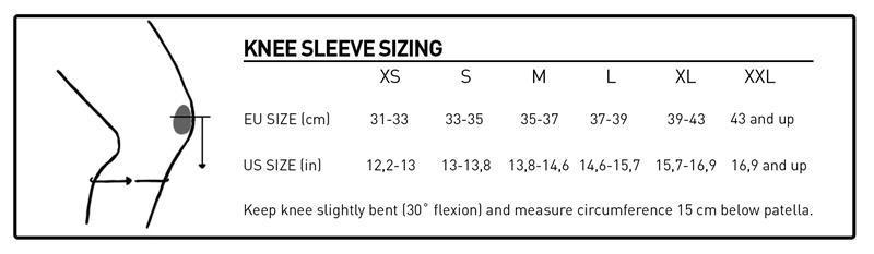 Knee Sleeve sizing Chart