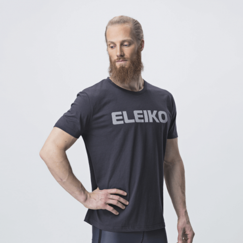 Eleiko Energy T Shirt Men Strong Gray Front