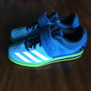 Powerlift Weightlifting Shoe blue side